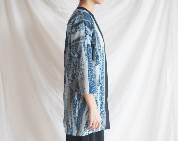IMAJI Studio Reversable Outwear in Lapis Lazuli Pattern <3 #NaturalDye #wabisabi #imajistudiovol2