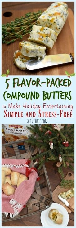 5 Flavor-Packed Compound Butters to Make Holiday Entertaining Simple and Stress-Free with Pepperidge Farm Stone Baked Artisan Rolls #ad