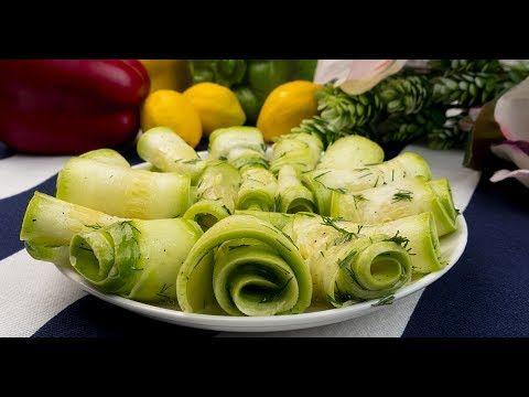 Salata super rapidă din dovlecel proaspăt - extraordinar de gustos și sănătos! - YouTube