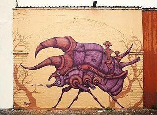El buen @segoobval en la Ciudad de #queretaro 🇲🇽❤✌🏼#streetartmexico #streetartchilango #graffitimexico #queretarock #mexico🇲🇽 #mexicanart #streetart #streetarts #streetartist