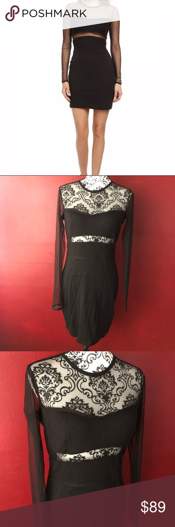 """Diesel Dress Large Black Club Sexy Mesh Stretch Seriously awesome body on/ stretch illusion mesh dress by diesel.  Dress is stretchy, measurements below are unstretched.  A showstopper for sure!  Pit to pit: 19"""" Waist flat:14.75"""" Length: 35.5"""" Diesel Dresses"""