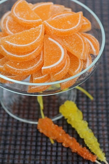 Orange Candy with a side of Rock Candy :) http://www.candygalaxy.com/candy-buffet-1/