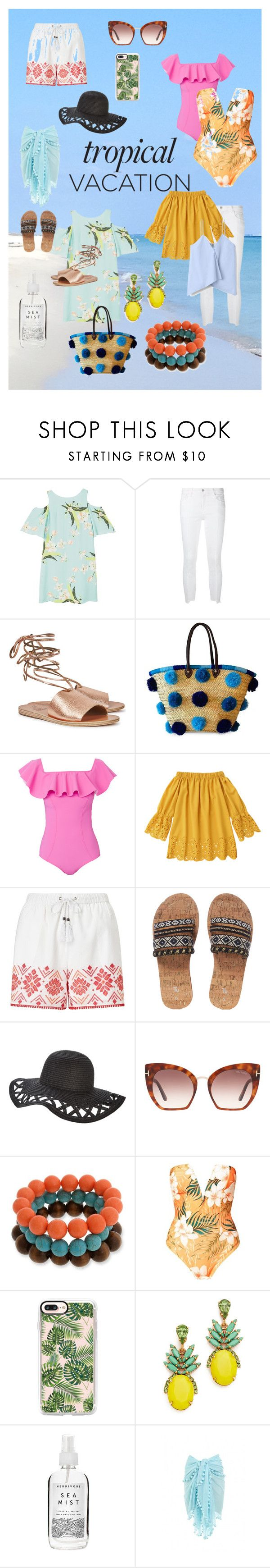 """""""Untitled #114"""" by jessiefine24 ❤ liked on Polyvore featuring MANGO, J Brand, Ancient Greek Sandals, Soeur Du Maroc, Lisa Marie Fernandez, Somerset by Alice Temperley, Tom Ford, Erica Lyons, Casetify and Elizabeth Cole"""