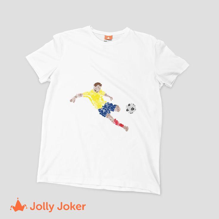 Puedes poner a tus jugadores preferidos de Colombia o la mejores frase del mundial de Rusia! En Jolly Joker puedes diseñar tus camisetas y ordenarlas super fácil. Porque Colombia en el mundial, es algo que no podemos dejar pasar