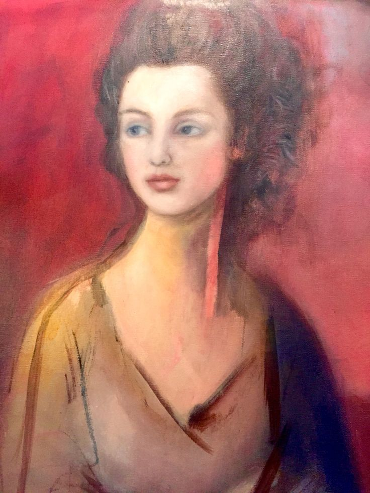 Preparation for Mrs Graham after Gainsborough  Oil on canvas. Unfinished