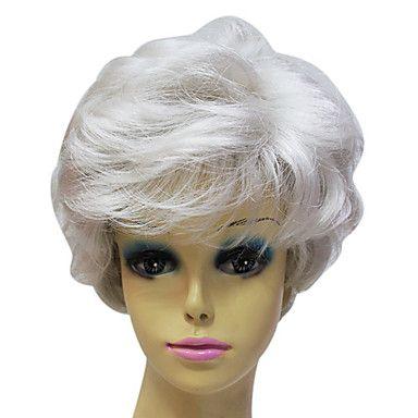 Capless High Quality Synthetic Janpanese Kanekalon Short Grey Color Short Hair Wig