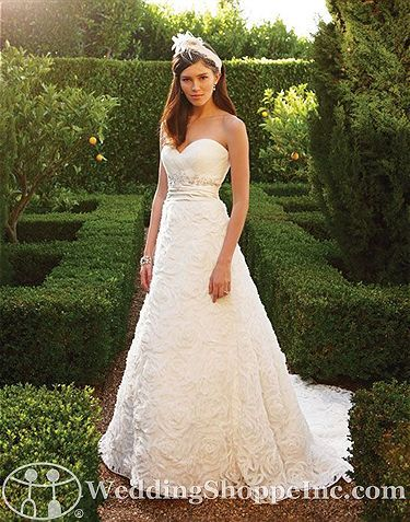 Romantic gown with textured skirt. Casablanca Bridal Gown 2048