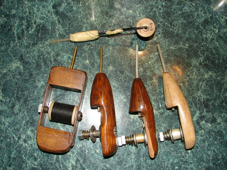 Details about vintage fly tying tools and supplies wooden for Tying a fishing lure