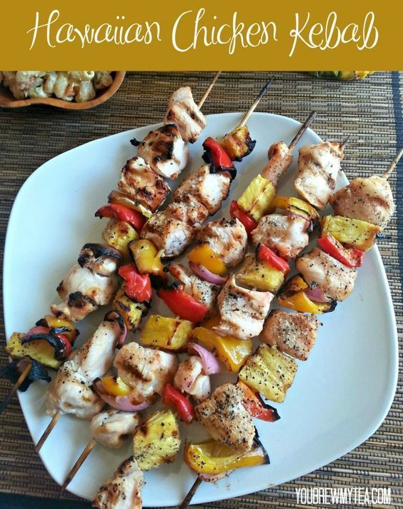 Another great Grilling Recipe for Summer! Our Hawaiian Chicken Kebab is so simple to make and full of flavor!  Great healthy meal option that is gluten free and diet friendly!