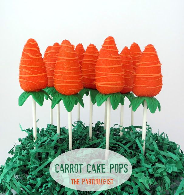 Carrot Cake Pops recipe for spring parties