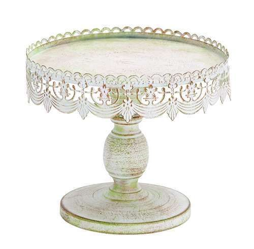 Metal Cake Plate White Metal Cake Stand Lace Design