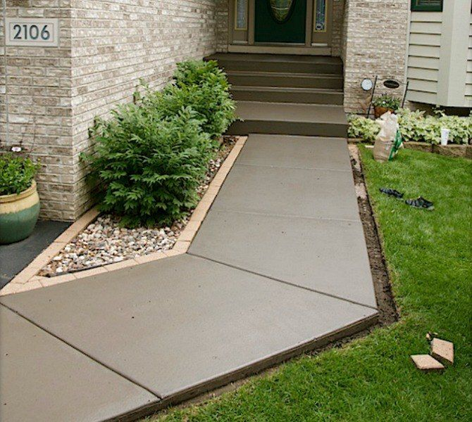 s 9 budget ways to make your walkway look even better than last year, concrete masonry, gardening, Stain your dried out concrete walkway