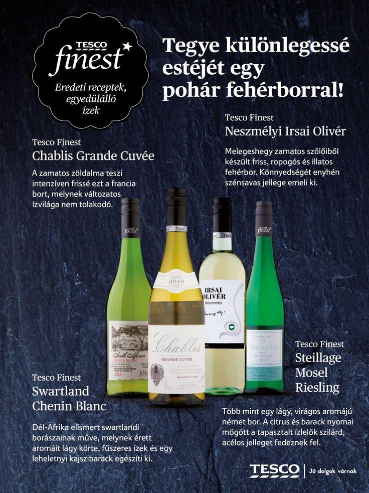 Prémium fehérborok a Tesco kínálatából #bor #prémium #vacsora #Tesco #tescofinest #finest