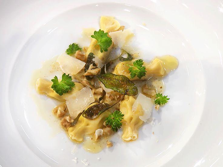 Caramelli fylld med gorgonzola och päron | Köket.se
