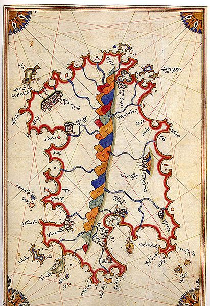Piri Reis was a 16th century Ottoman Admiral famous for his maps and charts collected in his Kitab-ı Bahriye (Book of Navigation), a book which contains detailed information on navigation as well as extremely accurate charts describing the important ports and cities of the Mediterranean Sea. In 1513 he produced his first world map, based on some 20 older maps and charts which he had collected, including charts personally designed by Christopher Columbus which his uncle Kemal Reis obtained in…