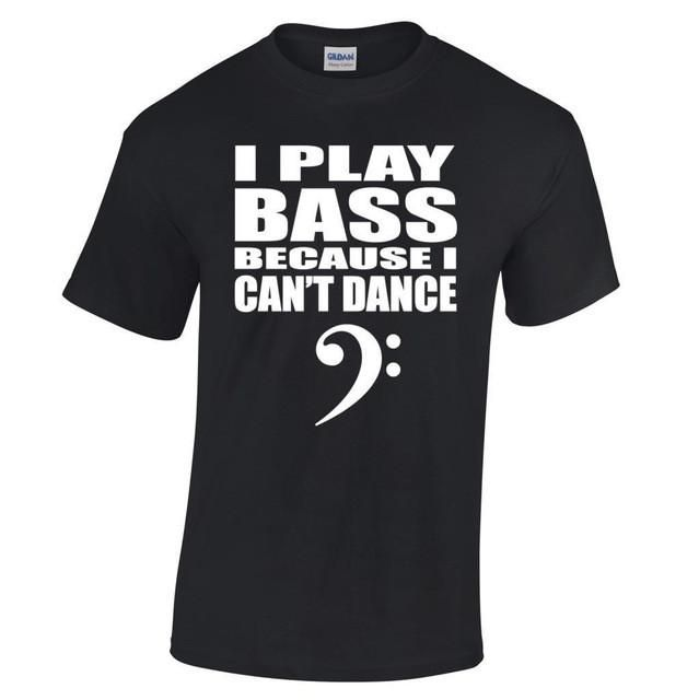 I Play Bass Because I Can´t Dance Men´s Cotton T-shirt