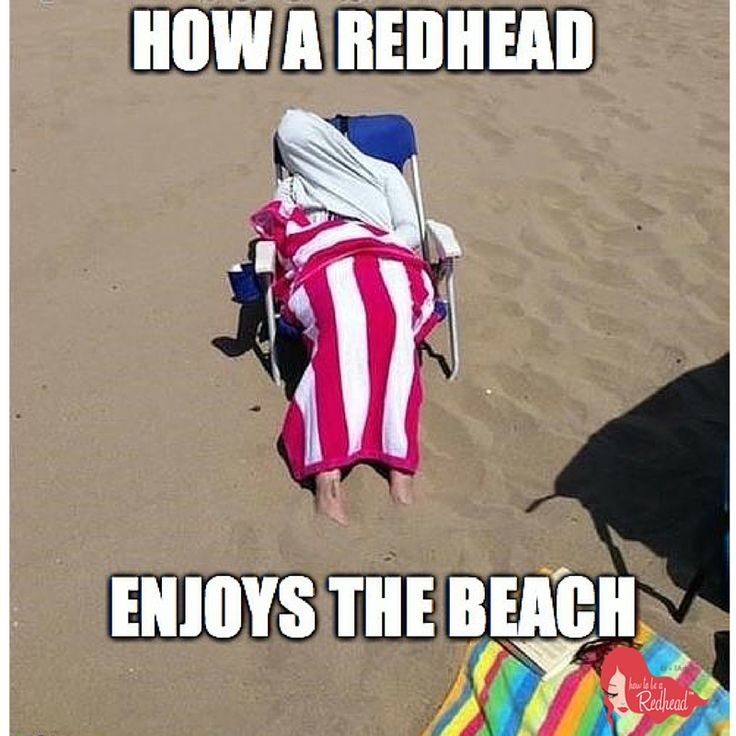 Since it's the last day of summer, we just had to! #Funny #Redhead #Meme