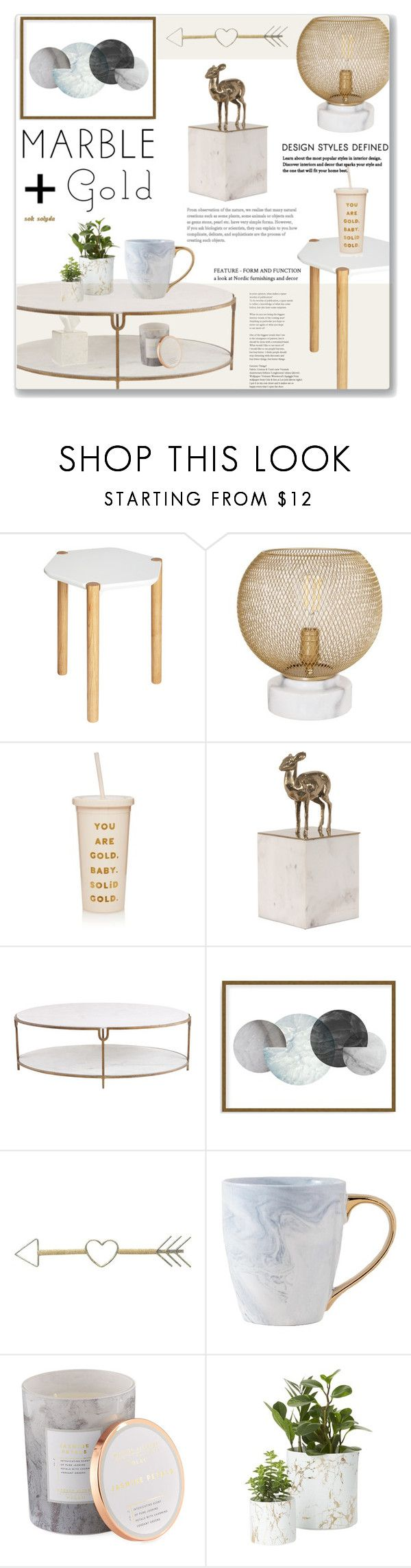 """""""Classic Elegance - Marble Home: 24/04/17"""" by solyda-sok ❤ liked on Polyvore featuring interior, interiors, interior design, home, home decor, interior decorating, Umbra, cupcakes and cashmere, ban.do and Global Views"""