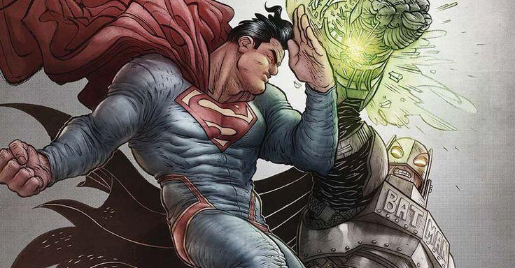 """DC Comics Reveals First """"Batman v Superman""""-Themed Variant Cover - March will bring 10 """"Batman v Superman"""" variant covers from DC Comics, and here's a look at Rafael Grampá's cover for """"Detective Comics"""" #50."""