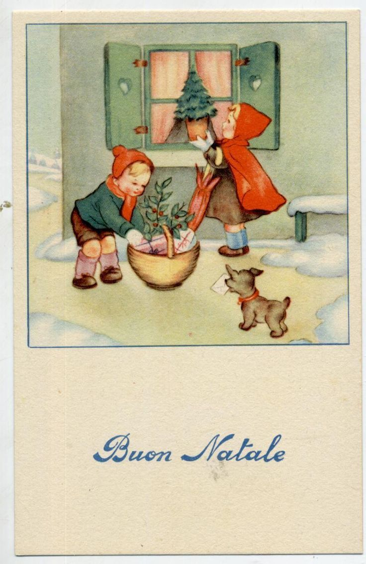 Cute Childrens with Puppy Dog Xmas Tree Vintage PC Circa 1930 | eBay