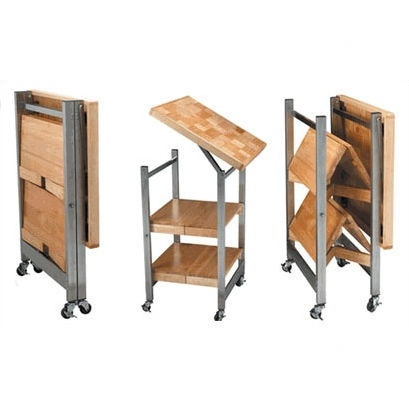 For our new smaller home - Oasis Concepts Stainless Steel All Purpose Folding Kitchen Cart