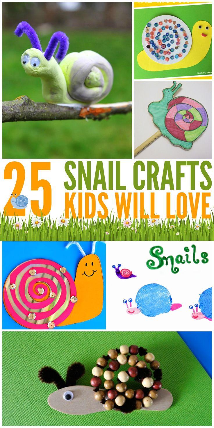 25 Snail Crafts Kids Will Love