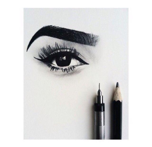 Art drawing and eye resmi