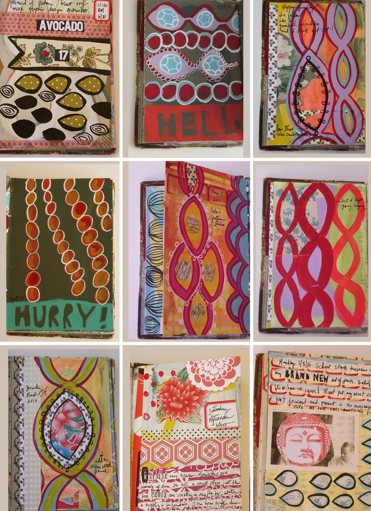 mary ann moss art journal pages