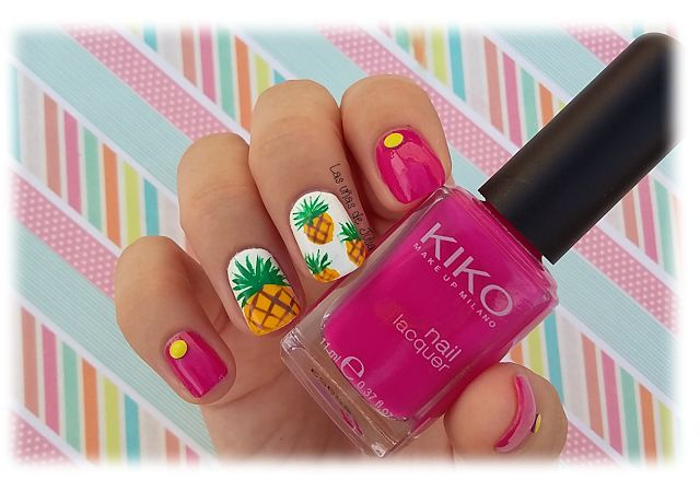 Las uñas de Julia: Nails Art Piña tropical.