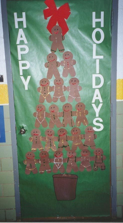 Male Classroom Decor ~ Leave blank gingerbread men out and let kids decorate them