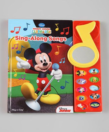 Look at this #zulilyfind! Mickey Mouse Sing-Along Songs Sound Hardcover by Mickey Mouse #zulilyfinds