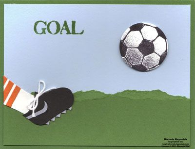 Soccer Cleat by Michelerey - Cards and Paper Crafts at Splitcoaststampers