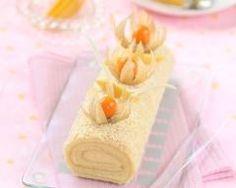 Bûche de noël aux fruits exotiques : http://www.cuisineaz.com/recettes/buche-de-noel-aux-fruits-exotiques-90296.aspx