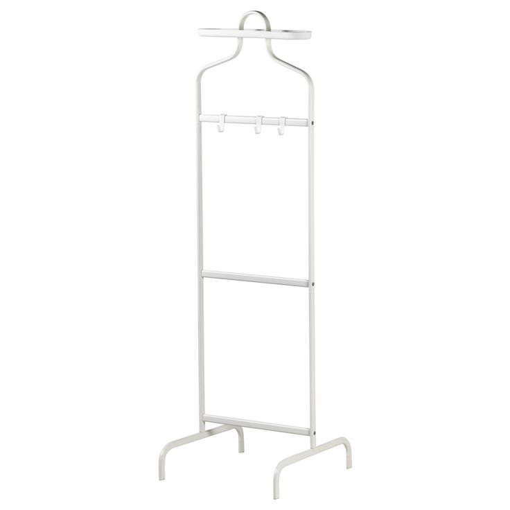Better than piling clothes on a chair. MULIG Valet stand - white - IKEA