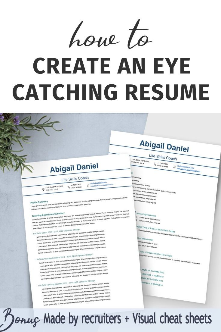 ATS friendly resume, Simple resume template professional
