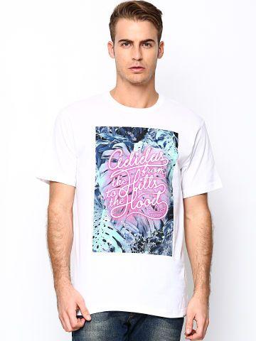 Adidas Originals Men White AS 3 Graphic Printed T shirt