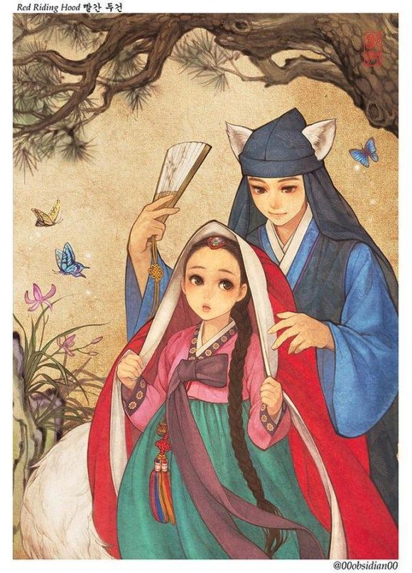 Korean Illustrator Gives an Eastern Take on Western Folktales - Na Young Wu, Little Red Riding Hood