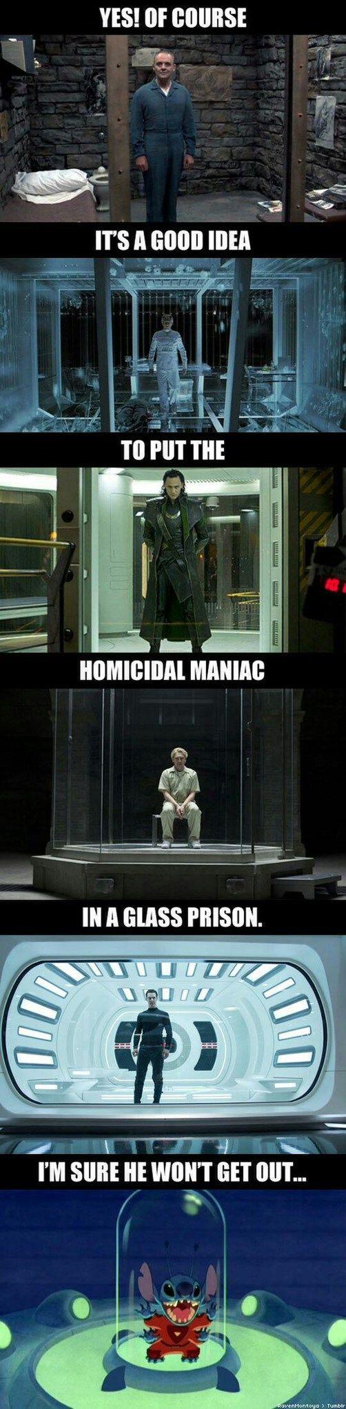 """It is Loki in a """"GLASS"""" prison"""