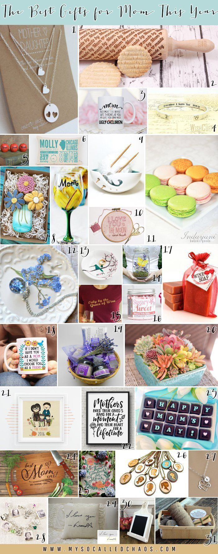 Gifts for Mom | The Buyable or DIYable Mother's Day Gifts http://mysocalledchaos.com/2016/04/best-gifts-for-mom-this-year.html