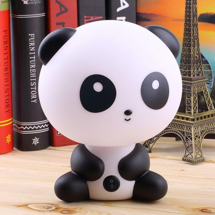 Ideal Kinderzimmer Motto Panda Tischlampe Panda Nachttischlampe f r Kinderzimmer LED Nachtlicht Schreibtisch Lampe