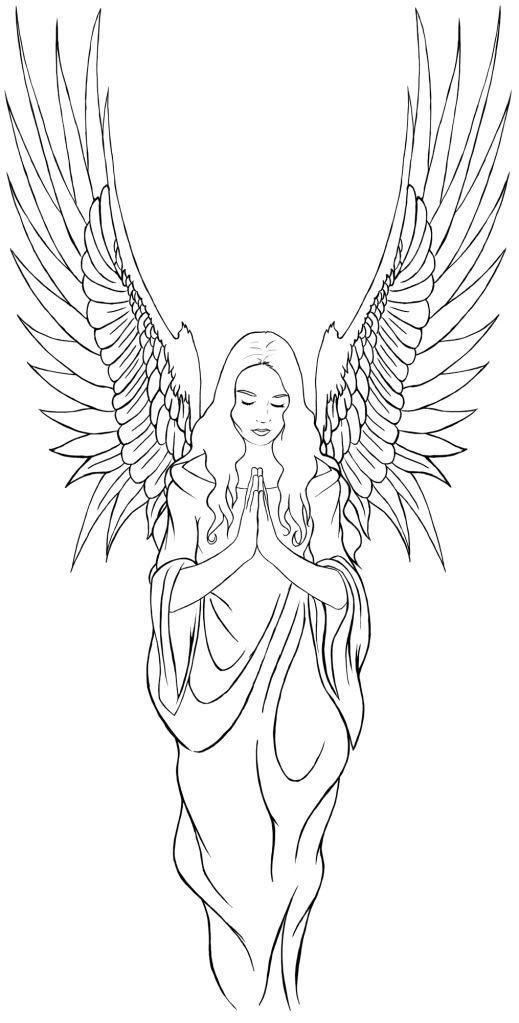 Ангелы хранители рисунки карандашом