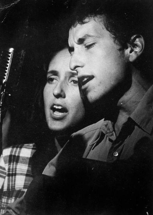 Bob Dylan and Joan Baez © Norman Vershay