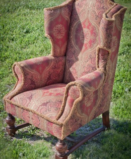 Vintage Boho Style Wingback Chair by Chic Upholstery, Toowoomba, Qld Australia.
