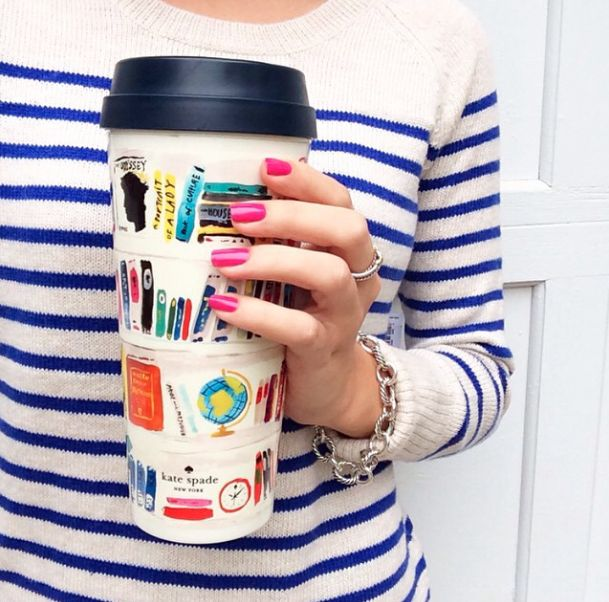 This kate spade new york thermal tumbler is so library chic.