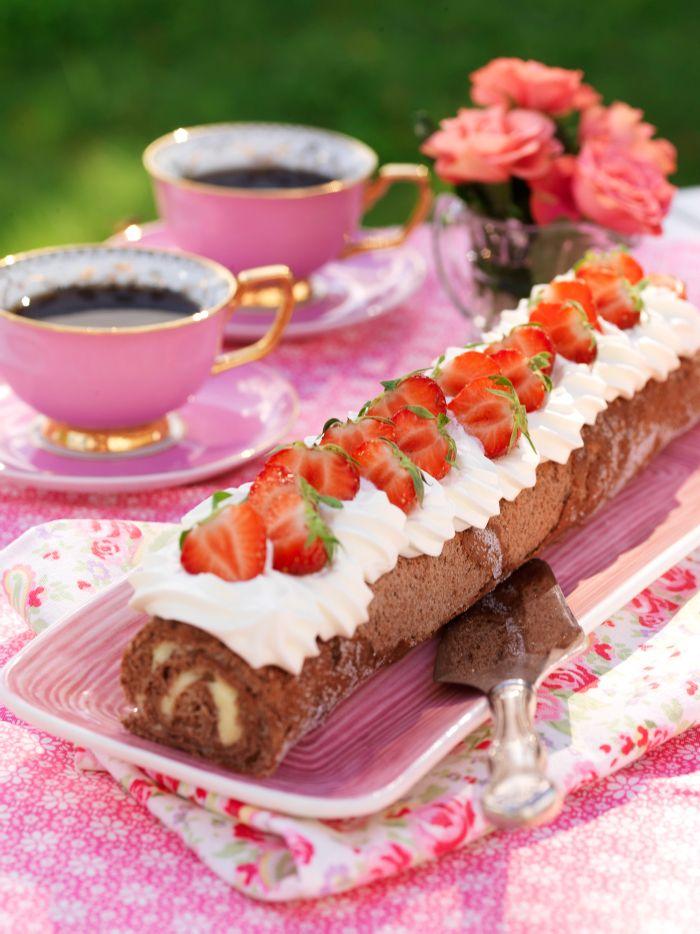 Chokladrulltårta med smörkräm