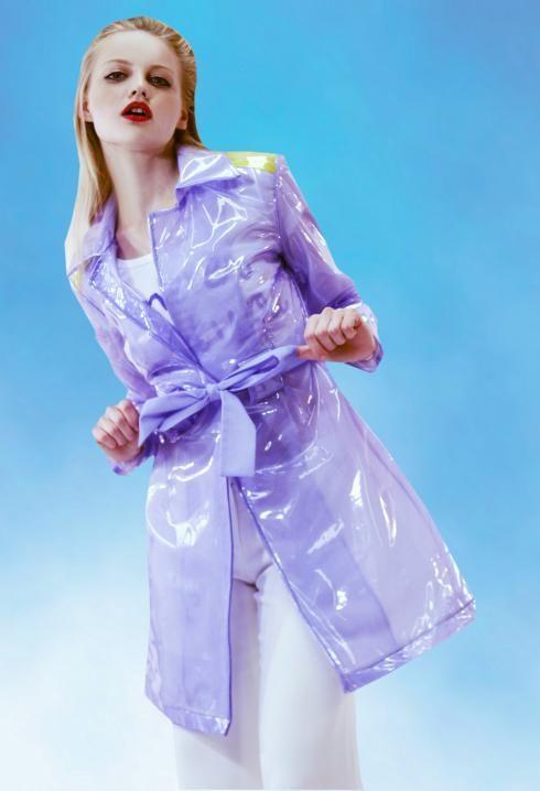 how to wear metallic raincoat