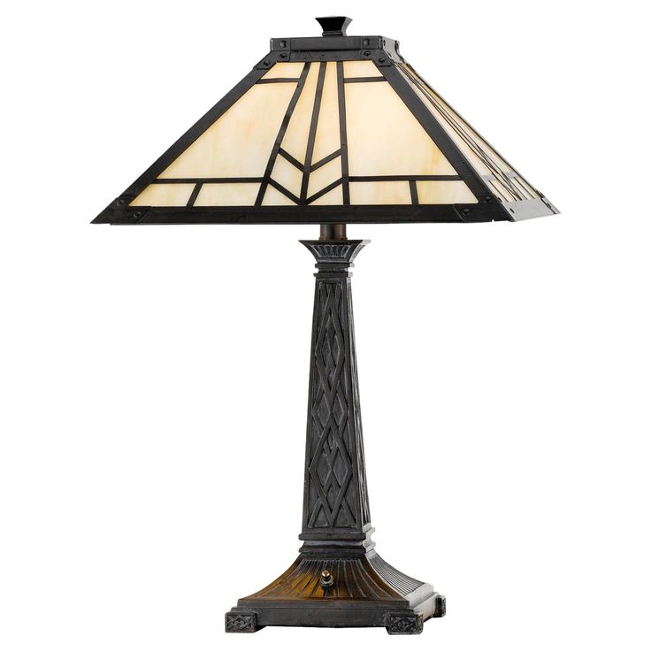 Cal Lighting BO-2096TB Mission Tiffany Table Lamp - BO-2096TB