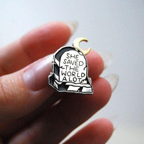 Buffy TVS enamel pin by Sylar