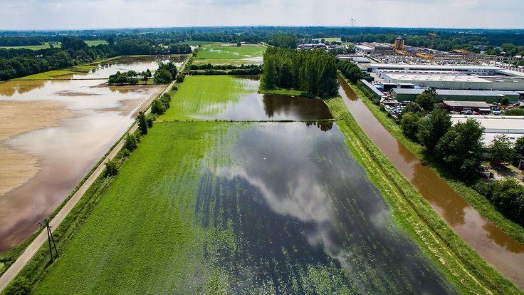 Damm bei Hamminkeln gebrochen: Pegelstände sinken nur langsam, neue Regenfälle erwartet