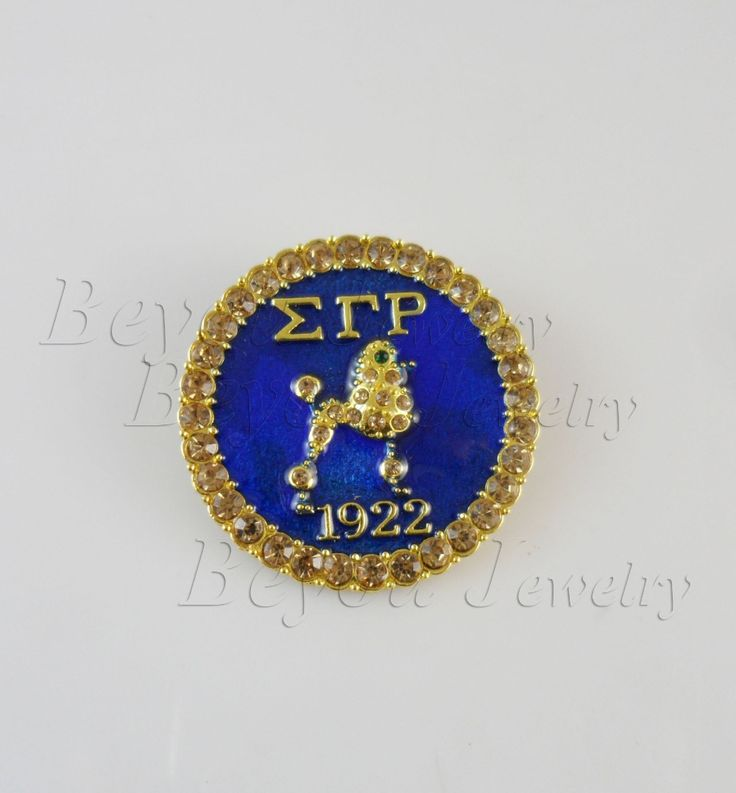 Greek  Sorority Gold  zeta sigma  rho Sigma Gamma Rho  Lapel Poodle Pin brooch jewelry #Affiliate